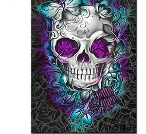 Floral Colored skull 5D DIY Diamond Painting