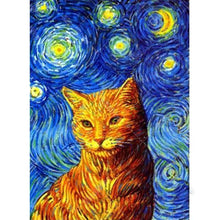 Cat in the Night 5D DIY Paint By Diamond Kit