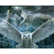 Wolf and Eagle 5D DIY Paint By Diamond Kit