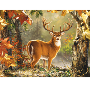 Deer in Forest 5D DIY Paint By Diamond Kit