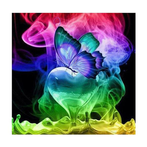 Color Butterfly 5D DIY Paint By Diamond Kit