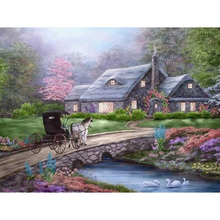 Farmhouse Scenery 5D DIY Paint By Diamond Kit