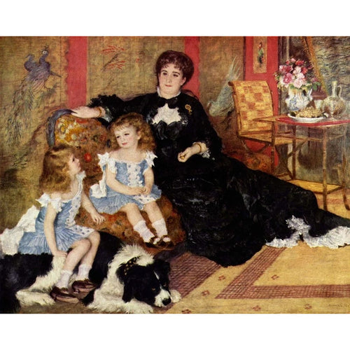 Madame Georges Charpentier and Her Children - August Renoir 5D DIY Paint By Diamond Kit