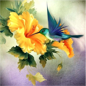 Flower and Bird 5D DIY Paint By Diamond Kit