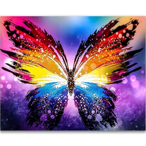 Butterfly Abstract 5D DIY Paint By Diamond Kit