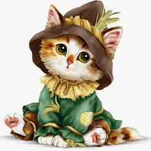 Kitten & Hat 5D DIY Paint By Diamond Kit