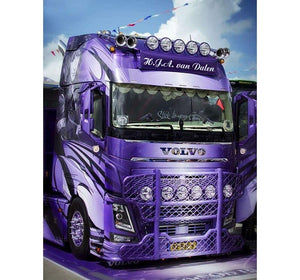 The Purple Truck 5D DIY Diamond Painting