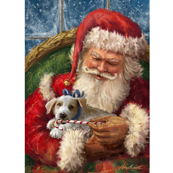 Santa and Puppy Love Christmas 5D DIY Paint By Diamond Kit