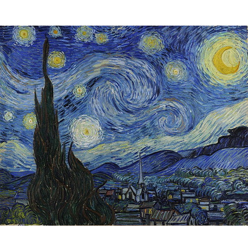 The Starry Night - Vincent Van Gogh 5D DIY Paint By Diamond Kit