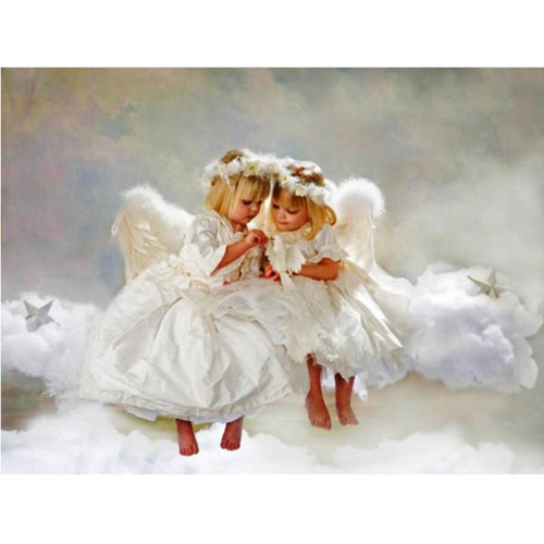 Angels On The Cloud 5D DIY Paint By Diamond Kit