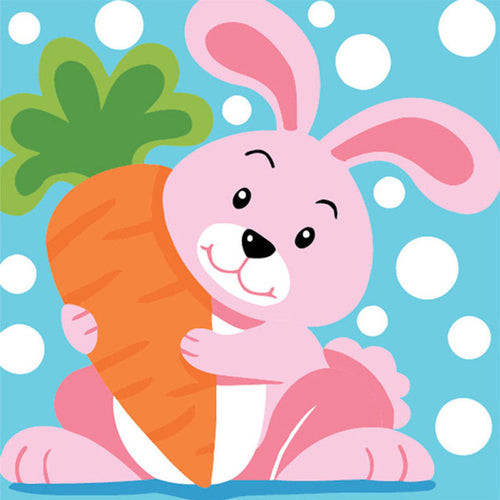 Hungry Bunny 5D DIY Paint By Diamond Kit