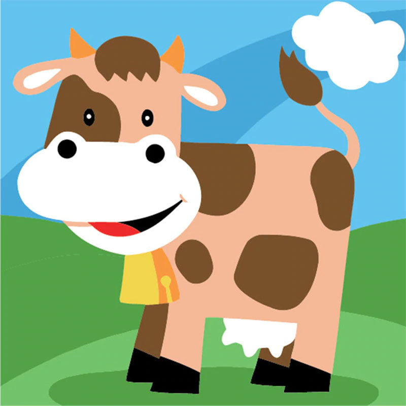 Big Brown Cow 5D DIY Paint By Diamond Kit