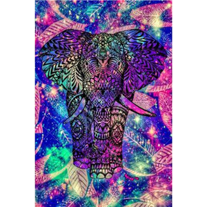 Color Elephant 5D DIY Paint By Diamond Kit