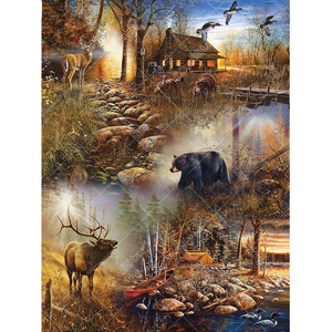 Elk And Bear 5D DIY Paint By Diamond Kit - Paint by Diamond