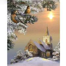 Scenic Birds Snow Landscape 5D DIY Paint By Diamond Kit