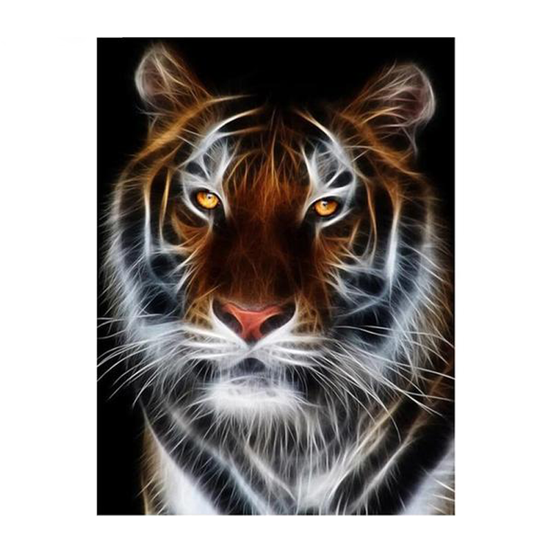 Embroidery Tiger 5D DIY Paint By Diamond Kit