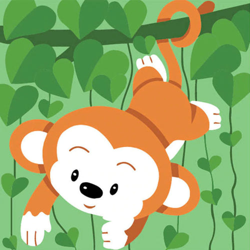 Playful Monkey 5D DIY Paint By Diamond Kit