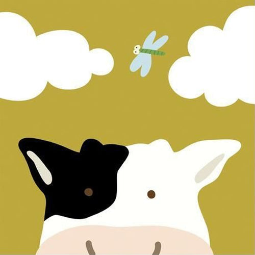 Peek-a-Boo Cow 5D DIY Paint By Diamond Kit
