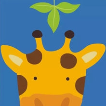 Peek-a-Boo Giraffe 5D DIY Paint By Diamond Kit