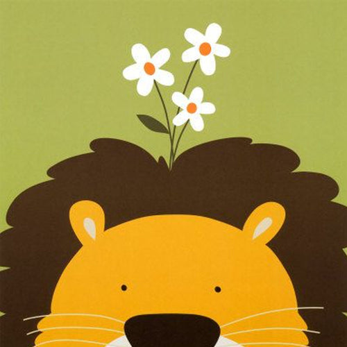 Peek-a-Boo Lion 5D DIY Paint By Diamond Kit