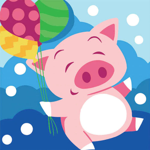Happy Piggy 5D DIY Paint By Diamond Kit