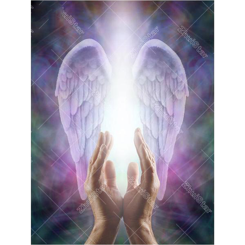 Praying Hands Guardian Angel Wings 5D DIY Paint By Diamond Kit