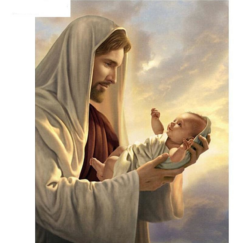 Jesus Child 5D DIY Paint By Diamond Kit - Paint by Diamond