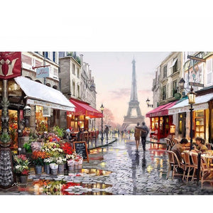 Colorful City 5D DIY Paint By Diamond Kit