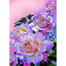 Floral  5D DIY Paint By Diamond Kit