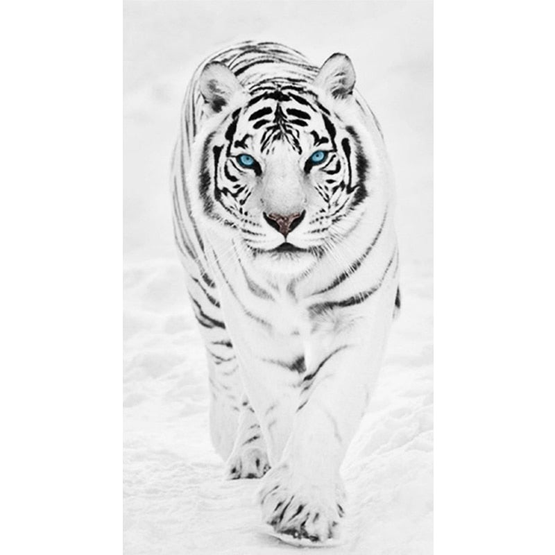 White Tiger 5D DIY Paint By Diamond Kit - Paint by Diamond