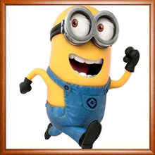 Funny Minion Cartoon Character 5D DIY Paint By Diamond Kit - Paint by Diamond