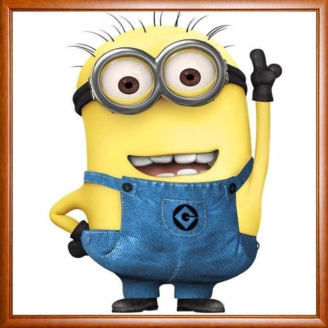 Bob The Minion Cartoon Character 5D DIY Paint By Diamond Kit - Paint by Diamond