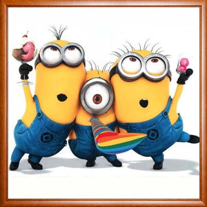 Minion Friendship 5D DIY Paint By Diamond Kit - Paint by Diamond
