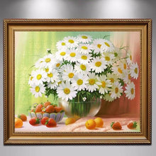White Daisies Floral 5D DIY Paint By Diamond Kit - Paint by Diamond