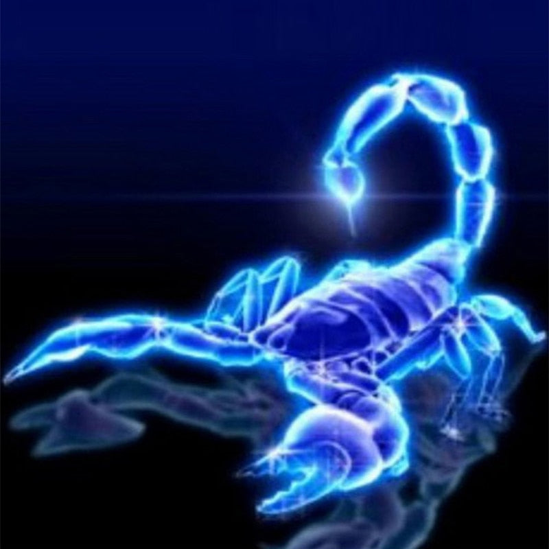 Fluorescent scorpion 5D DIY Paint By Diamond Kit - Paint by Diamond