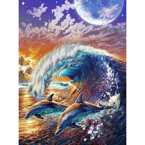 Dolphin Wave 5D DIY Paint By Diamond Kit - Paint by Diamond