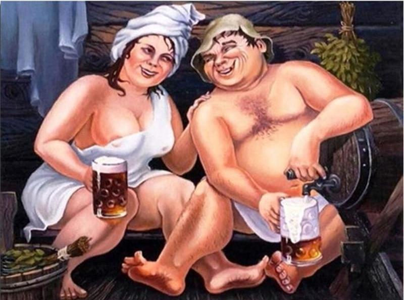 Couple Drinking Beer 5D DIY Paint By Diamond Kit