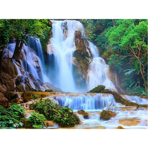 Waterfall Scenic Location 5D DIY Paint By Diamond Kit - Paint by Diamond