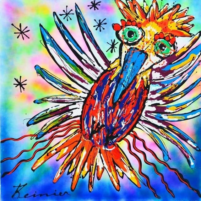 Colorful Bird 5D DIY Paint By Diamond Kit