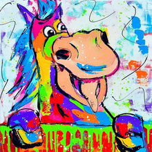 Colorful Horse Tongue Out 5D DIY Paint By Diamond Kit - Paint by Diamond