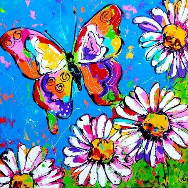 Colorful Butterfly  5D DIY Paint By Diamond Kit - Paint by Diamond