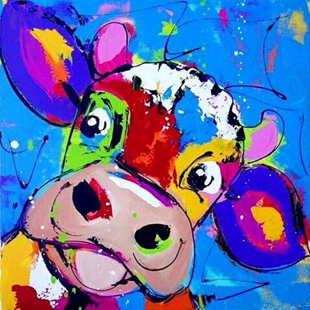 Pranking Cow 5D DIY Paint By Diamond Kit - Paint by Diamond