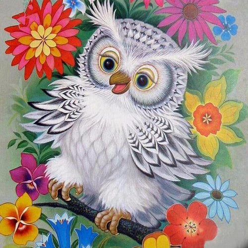 Calm Owl 5D DIY Paint By Diamond Kit - Paint by Diamond