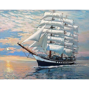 Sailing Boat 5D DIY Paint By Diamond Kit - Paint by Diamond