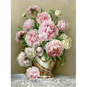 Floral Vase 5D DIY Paint By Diamond Kit - Paint by Diamond