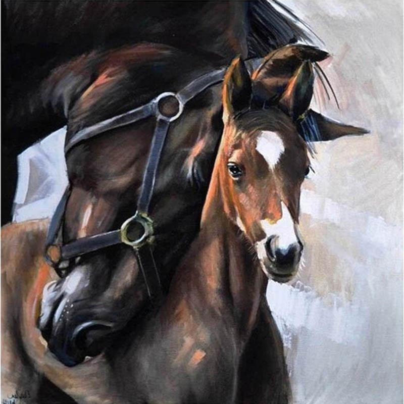 Wild Horses 5D DIY Paint By Diamond Kit - Paint by Diamond