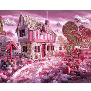 Candy House 5D DIY Paint By Diamond Kit - Paint by Diamond