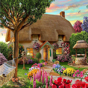 Cozy Hut 5D DIY Paint By Diamond Kit - Paint by Diamond