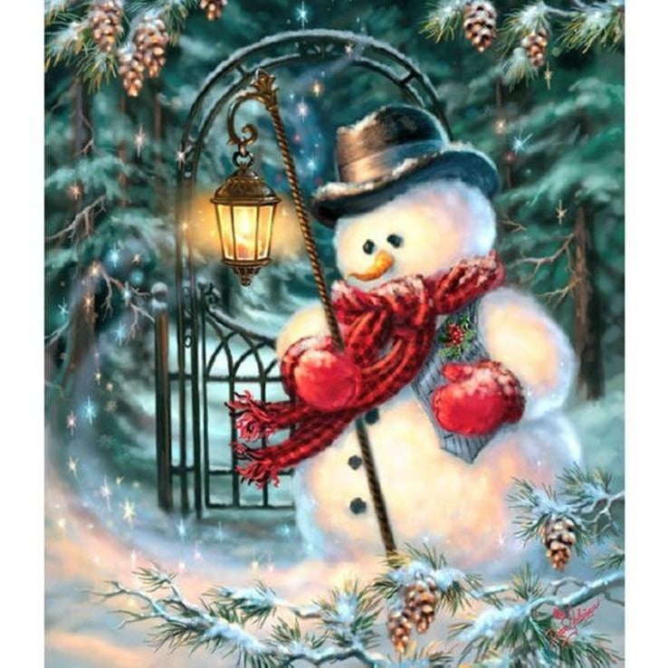 Snowman 5D DIY Paint By Diamond Kit - Paint by Diamond