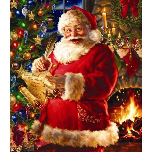 Christmas Santa Claus Joy 5D DIY Paint By Diamond Kit - Paint by Diamond